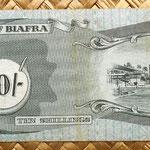 Biafra 10 shillings 1968 reverso