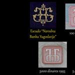 Emblemas RFSY y NBY en billetarios yugoslavos