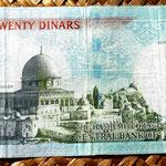 Jordania 20 dinares 2009 reverso