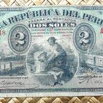 Perú 2 soles 1879 anverso