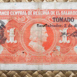 El Salvador 1 colon 1934 reverso