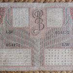 Indias Orientales Holandesas 25 gulden 1946 (148x74mm) pk.91 reverso