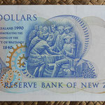 Nueva Zelanda 10  dollars 1990 Conmemorativo pk.176 reverso