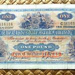 Escocia Clydesdale Bank 1 libra 1949 anverso