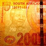 Sudáfrica 200 rand 2012 marca de agua y banda de seguridad