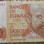 200 pesetas 1980 serie estadistica 8D anverso