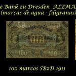 Alemania 1890-1922 serie marcos Sachsische Bank zu Dresden filigranas