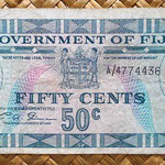 Fiji 50 centavos de dólar 1969 anverso