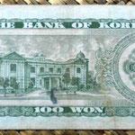 Corea del Sur 100 won 1965 reverso