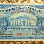Paraguay 50 pesos fuertes 1923 anverso