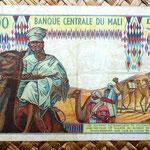 Mali 500 francos 1972 reverso