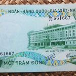 Vietnam del Sur 100 dong 1972 (147x72mm) pk.31a anverso