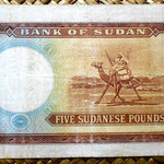 Sudan 5 pounds 1966 (150x85mm) pk.9c reverso
