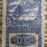 Austria 10 shillings 1945 (68x124mm) pk.114 reverso