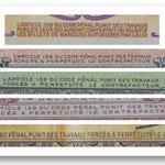 texto que penaliza la falsificación con trabajos forzados a perpetuidad