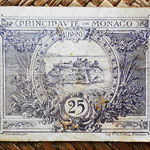 Mónaco, 25 céntimos 1920 (70x50mm) pk.2c reverso