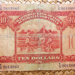 Hongkong 10 dolar 1948 Chartered Bank of India, Australia and China reverso