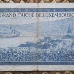 Luxemburgo 20 francos 1955 (135x72mm) pk.49a reverso