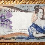 Portugal 1000 escudos 1967 anverso