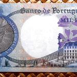 Portugal 1000 escudos 1967 reverso
