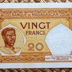 Madagascar colonial 20 francos 1937 reverso