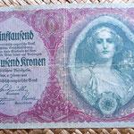 Imperio Austrohúngaro 5000 coronas 1922 anverso
