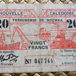 Nueva Caledonia WWII 20 francos 1943 anverso