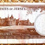 Isla de Jersey 10 shillings 1963 reverso
