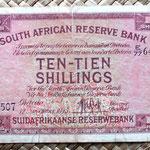 Sudáfrica 10 shillings 1945 anverso
