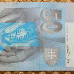 Eslovaquia 50 korun 1999 reverso