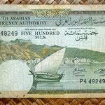 Yemen Democratic Republic 500 fils 1965 (145x84mm)  anverso