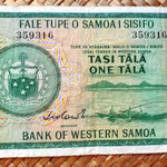 Western Samoa 1 tala 1967 anverso