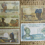 Mali serie francos -Banque Centrale du Mali- años '70-'80 s.XX anversos