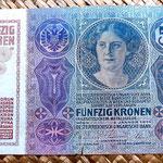 Imperio Austrohúngaro 50 coronas 1914 anverso