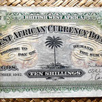 British West Africa 10 chelines 1942 anverso