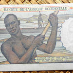 French West Africa 5 francos 1953 reverso