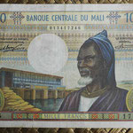 Mali 1000 francos 1970-84 (140x90mm) pk.13a anverso