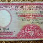 Escocia 20 pounds sterling -Commercial Bank of Scotland Limited 1959 (176x100mm) anverso