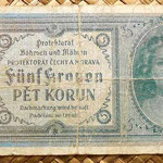 Bohemia y Moravia 5 coronas 1940 anverso