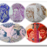 Indonesia serie rupias -Sukarno & the Dancers- 1960-64 vinetas
