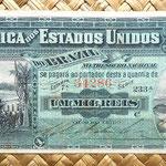 Brasil 1 mil reis 1891 pk.3a anverso