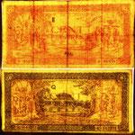 Indochina serie piastras 1942-45 Templo de Hung líneas de seguridad