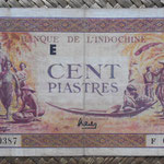 Indochina 100 piastras 1942-45 (174x76mm) pk.66 anverso