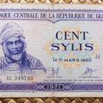 Guinea 100 sylis 1971 anverso