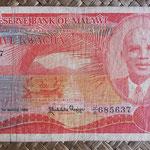 Malawi 5 kwachas 1986 (152x80mm) pk.20a anverso