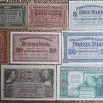 Alemania ocup. Kowno WWI serie ostMark Darlehnskasse 1918 anversos