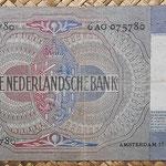 Holanda 10 gulden 1941 (144x82mm) pk.56a reverso