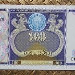 Uzbekistan 100 sum 1994 (144x68mm) pk.79a anverso