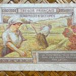 Francia 5 francos Territorios Ocupados -Tresor Francais 1947 reverso