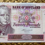 Escocia 20 pounds sterling -Bank Of Scotland 2004 (150x80mm) anverso